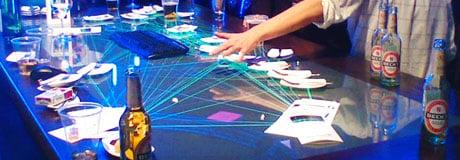 CoBench - Interaktiver Tresen auf der Cebit 2008