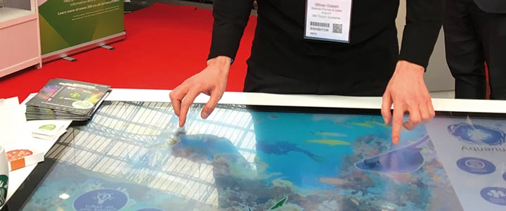 Touchscreen-Technologie auf der Retail Digital Signage Expo in London 2