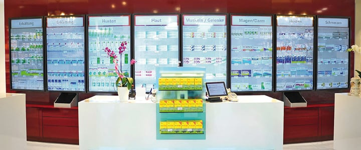 Digital Signage in Apotheken: Virtuelle interaktive Regale 2