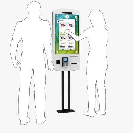 Self-Service Touchscreen POS Kiosk Terminal for Retail and Point of Sale