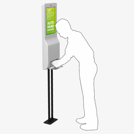 Hand Sanitizer Kiosk with Touchscreen