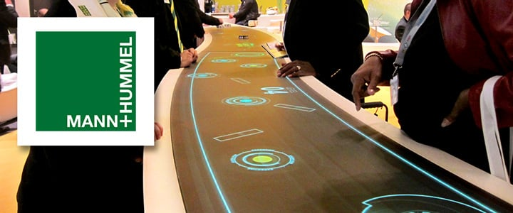 Rundes MultiTouch Display für MANN-FILTER