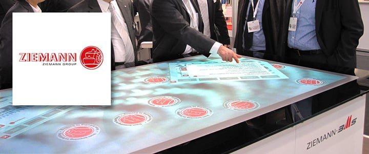 Interactive Multi Touch Table + Apps for Ziemann