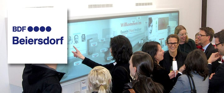 Seamless MultiTOUCH Wall with product recognition for Beiersdorf