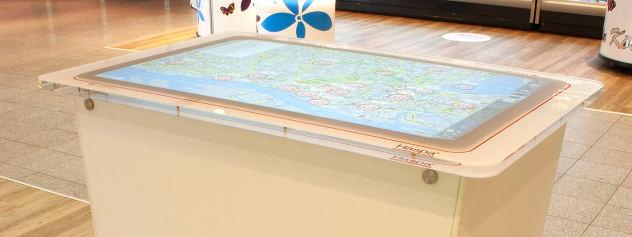 Aeon MultiTouch Table + Software for Haspa