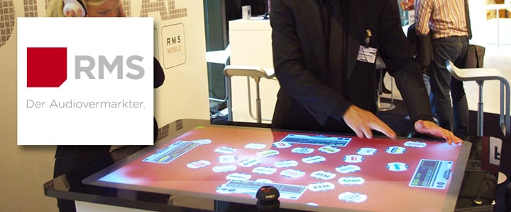 Interactive Audio-Player Software on AEON Touch Tables