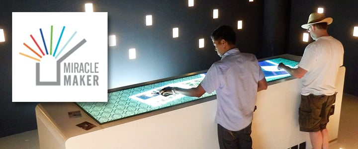 Large touchscreen table as interactive bar with software in Thailand