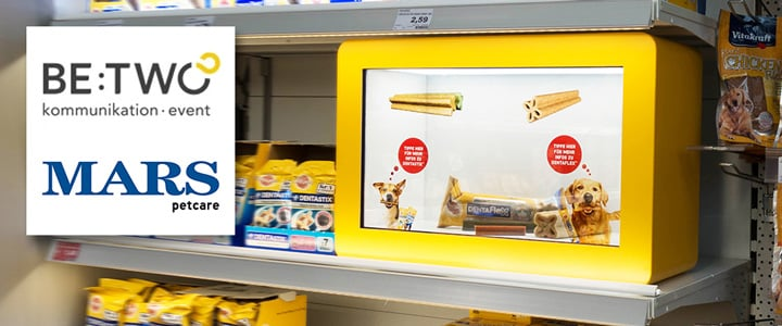 Innovative touchscreen solution at POS for Mars Petcare in Berlin