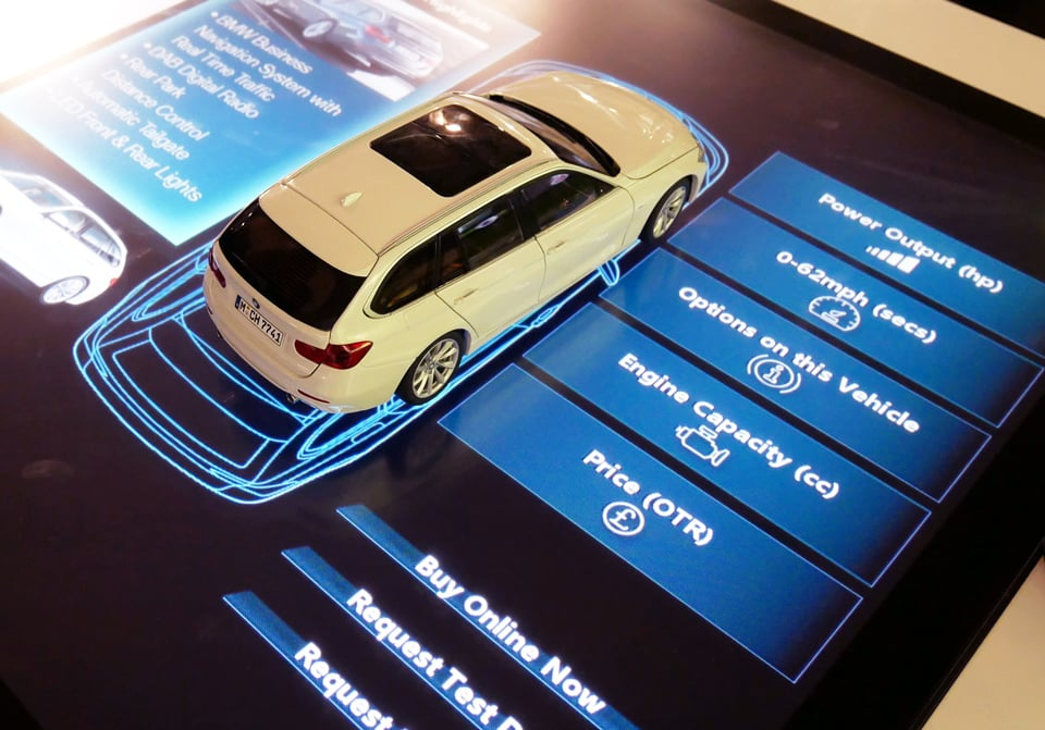 BMW deploys touch screen object recognition for interactive