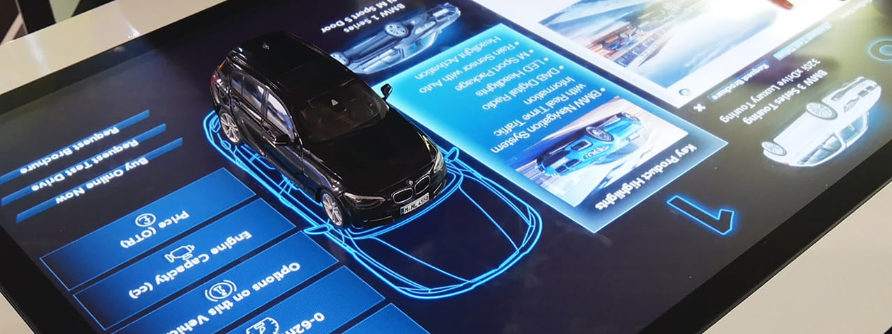 BMW deploys touch screen object recognition for interactive event