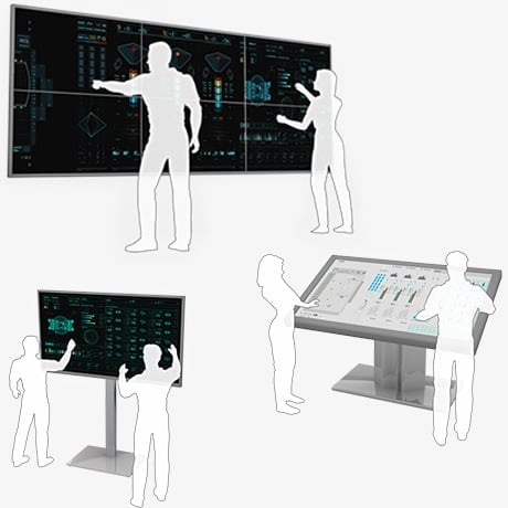Multitouch Screen Terminal Video Wall for Control Room