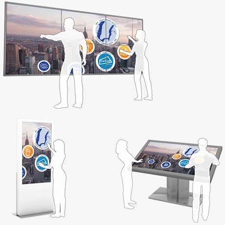 Multitouch Screen Totem, Kiosk, Terminal & Video Wall for DOOH, Airport, Station