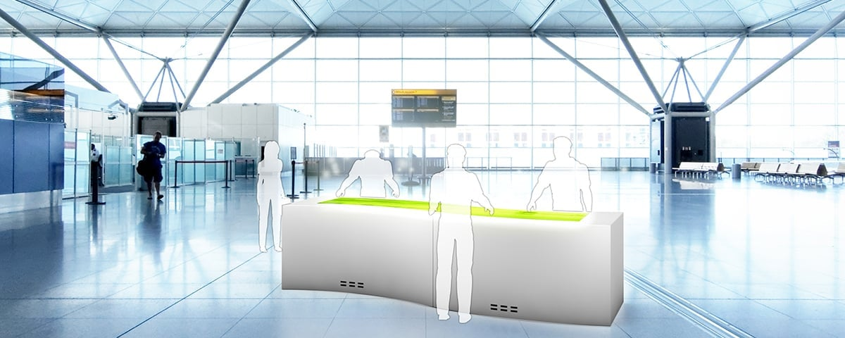 Multitouch Screens & Software for Airport, Station & Digital Out of Home (DOOH)