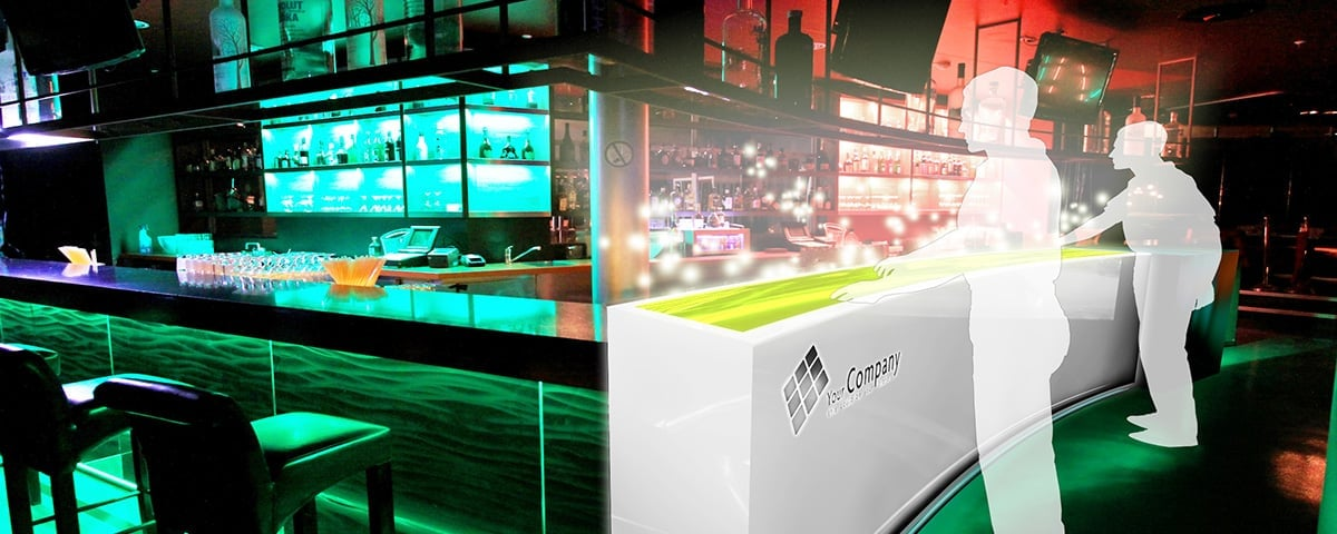 Interactive Digital Signage for Bars, Clubs, Events