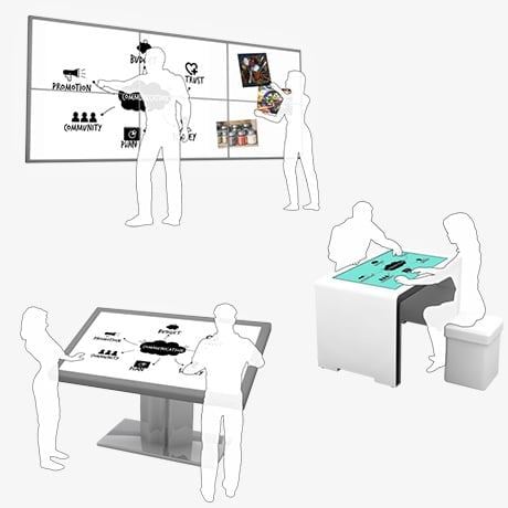 Multitouch Screen Terminal Videowall for Meeting Room and Headquarter