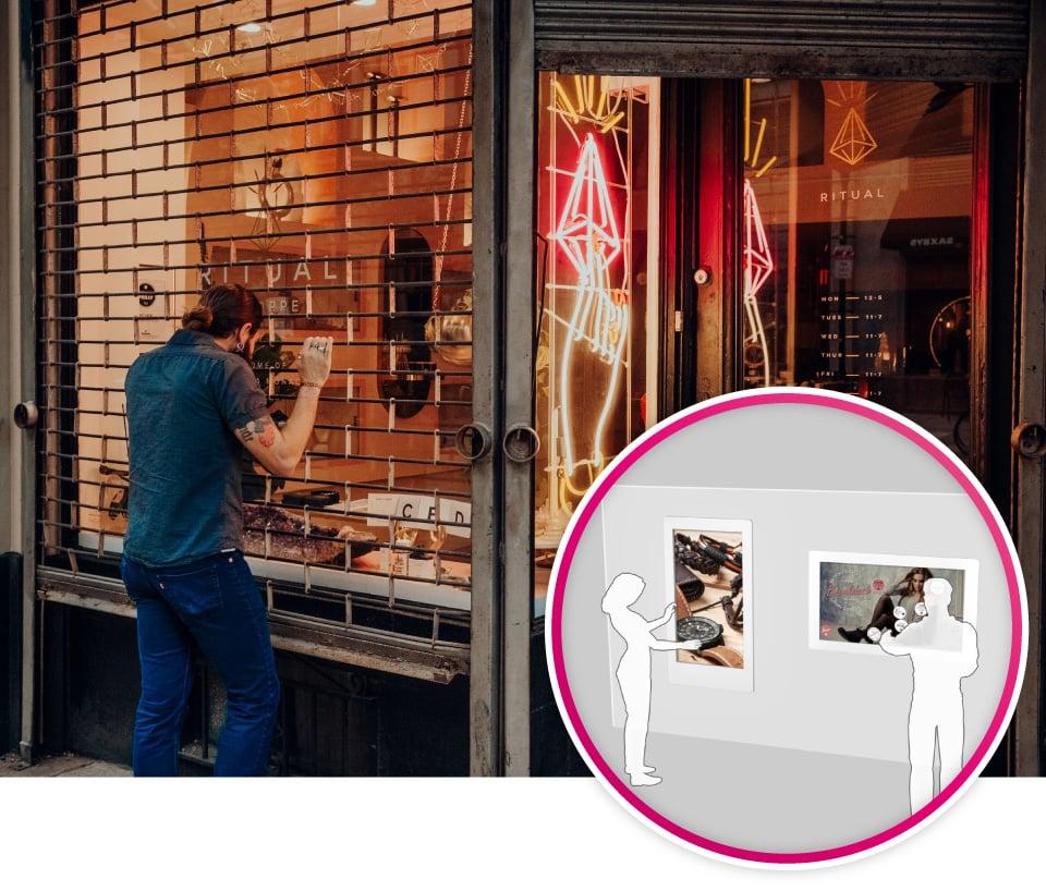 Interaktive Schaufenster verlängern die Öffnungszeiten der Geschäfte