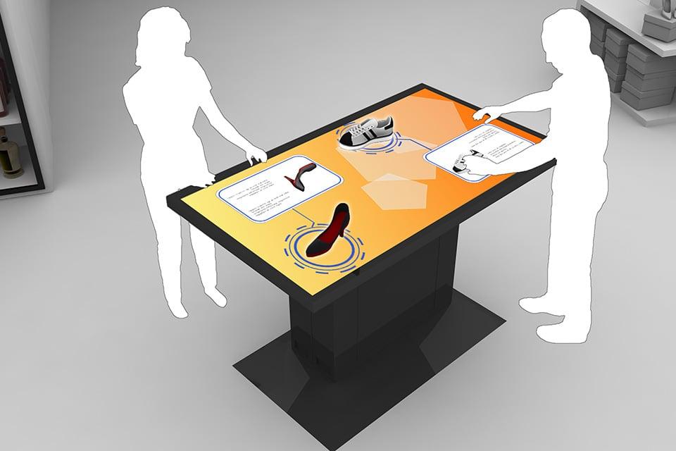 Touchscreen Tische mit Objekterkennung