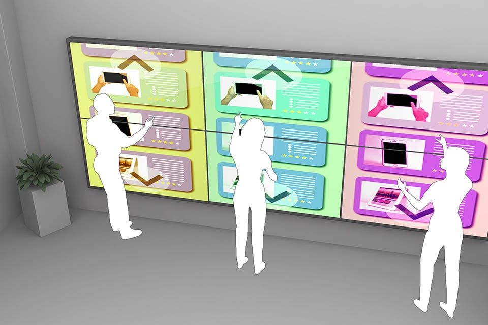 XXL Touchscreens with Multi-User Technology