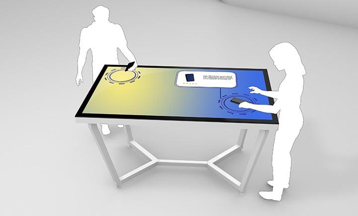 Retail: MultiTouch Tische mit Objekterkennung